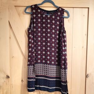 BR Navy and Red Patterned Tunic